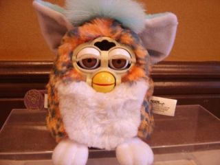 Furby Baby   Rare Light Blue & Leopard