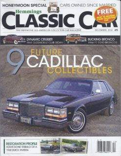 Hemmings Classic Car Magazine Cadillac Ford Bronco