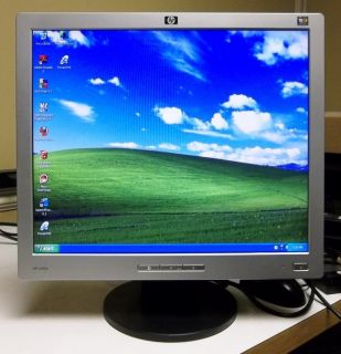 HP L1906 19 Flat Screen LCD Desktop Computer Monitor VGA Black Silver