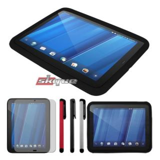 case cover+lcd film guard+stylus pen for HP touchpad 9.7in wifi tablet