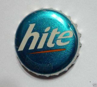 Hite Beer Bottle Cap Crown Korea Silver Blue