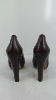HK by Heidi Klum Womens Maria Peep Toe Pump   Chocolate   8   Retail