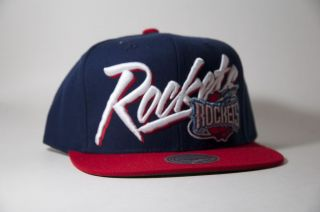 Houston Rockets Mitchell and Ness Blue Red Snapback Hat