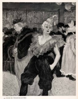 1951 Photogravure Henri de Toulouse Lautrec Clown Cha U Kao Mouling