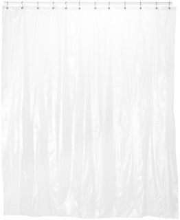 Carnation Home Fashions 72 Wide x 78 Inch Long Vinyl Shower Curtain