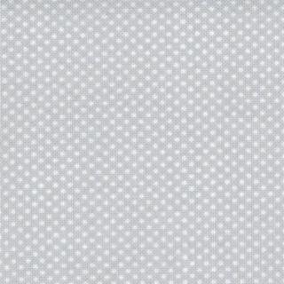 Polka Dots Tiny White Dots on Light Blue Grey Fabric Fat Quarter