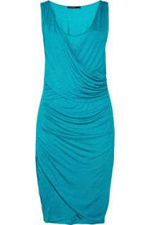 SuperTrash Dama wrap effect jersey dress   65% Off