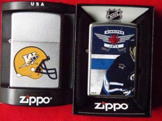 Zippo Winnipeg Jets NHL Hockey CFL Canada Football Blue Bombers