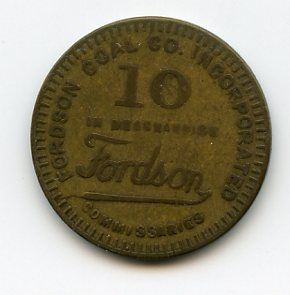 Henry Ford Fordson Coal Company Ten Cent Good for Token