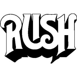 RUSH BAND WHITE LOGO VINYL DECAL STICKER