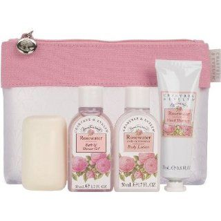 Crabtree and Evelyn Rosewater Travel Gift Pack Body Lotion