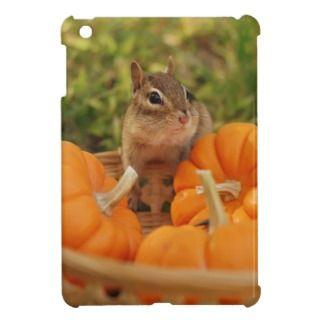 Cute Chipmunk with Pumpkins iPad Mini Case
