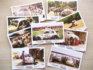 Herbie Fully Loaded Volkswagen Beetle Movie Postcard Set