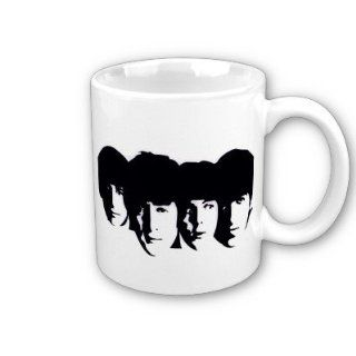 The Beatles Fab 4 Stencil Art Coffee, Hot Coco, Tea Mug