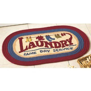 Laundry Wash Room Throw RUG Utility MAT Home Decor Accent