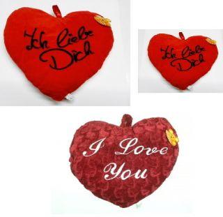 Größen Einzeln Set Ich Liebe Dich I Love You Rot Kissen Herz