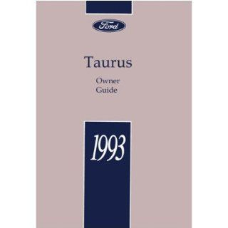 1993 FORD TAURUS Owners Manual User Guide Everything Else