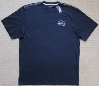 Nautica Navy Premium Big Tall T Shirt Men's $29 50