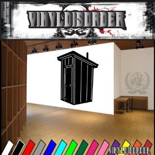 Buildings Outhouse NS008 Vinyl Decal Wall Art Sticker