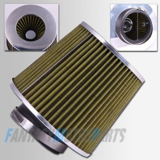 Universal High Performance Olive 3 Inlet Cone Dry Flow 3 Air Filter