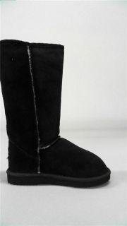 Emu Ridge Barwon High Womens Winter Boots 5 Medium M Black Suede Solid