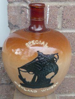 Doulton Lambeth Special Highland Whisky Flagon Whiskey Jug 1
