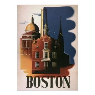 Vintage Travel Poster Boston. All rights reserved.