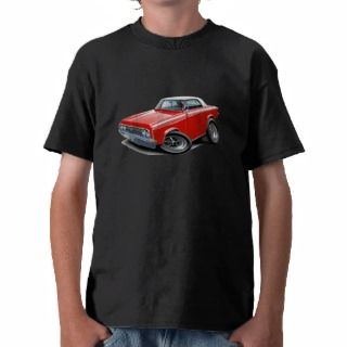 1964 65 Cutlass Red White Car Tee Shirt