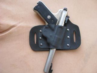 Leather Kydex Beltslide Holster for Ruger MK II III and 22 45 Variants