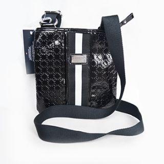 tommy hilfiger black cross body messenger bag