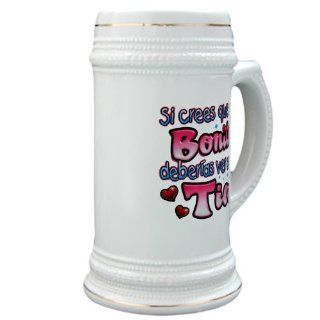 Stein (Glass Drink Mug Cup) Si Crees Que Soy Bonita