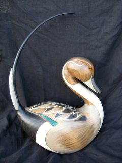 HAND CARVED BIG SKY CARVERS CHRIS HINDLEY PINTAIL DUCK DECOY SOLID