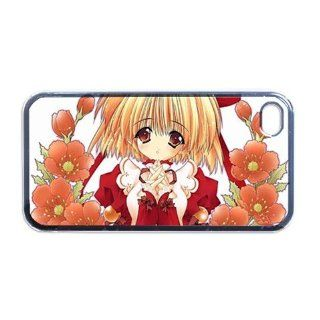 Anime Girl flowers Apple RUBBER iPhone 4 or 4s Case