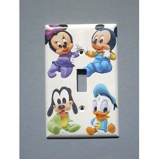 BABY Mickey Minnie Mouse Pluto Donald Duck Single Switch