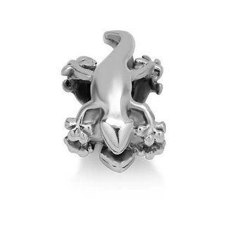 Chuvora Sterling Silver Lizard Bead Charm Fits Pandora Bracelet