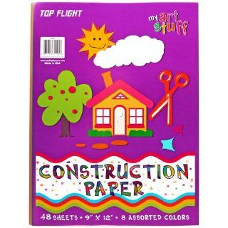 Top Flight Construction Paper, Assorted Colors, 9 x 12