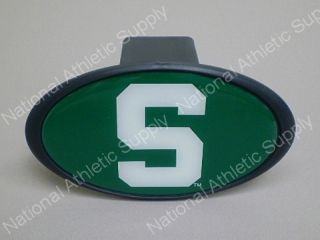 Michigan State Spartan 2 Hitch Receiver Plug Cover MSU