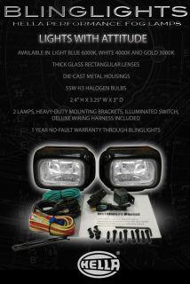 Motorcycle Hella Xenon Fog Lights Driving Lights Lamps Kit Foglight