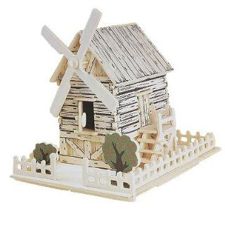 Como Wooden Country Windmill Model Woodcraft Construction