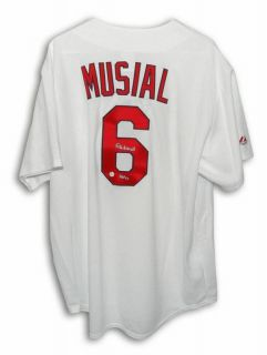 St Louis Cardinals Throwback Majestic Jersey Inscribed HOF 69