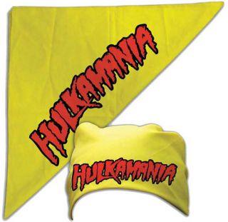 Hulkamania Hulk Hogan Bandana WWF WWE Wrestling Bandanna New