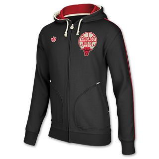 adidas Chicago Bulls Pre Game NBA Mens Full Zip Hoodie