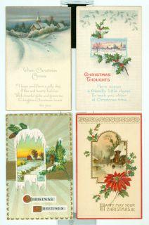 Christmas Xmas Unused Early 1900s Postcard Lot 12