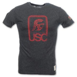 USC Trojans Retro Logo Mens Tee Shirt Black