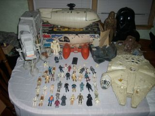 1980s Vintage Star Wars  Lot Sale  Rare figures and vehicles