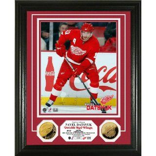 Pavel Datsyuk 24KT Gold Coin Photo Mint: Sports & Outdoors