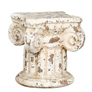 Chippy Paint Shabby Style Column Plant Candle Stand Still Life