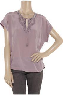 Rebecca Taylor Sequin embellished silk blouse