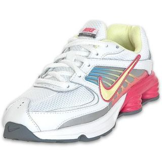 Nike Preschool Shox Turbo VIII Running Shoe White