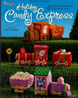 Holiday Candy Train Express Christmas Santa More Plastic Canvas